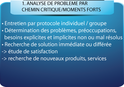 ANALYSE DE PROBLEME PAR CHEMIN CRITIQUE/MOMENTS FORTS